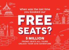 AirAsia 5 Million Free Seats Promo