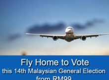 AirAsia Fly Home to Vote From RM99 Promotion