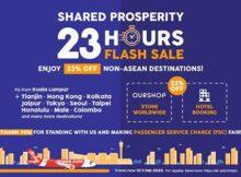 airasia 23 hours flash sale